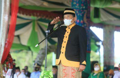 Bupati Bolmut Pimpin Upacara Peringatan HUT Bolmut Ke 14 (Foto Prokopim)